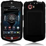 For Casio G'zOne Commando 4G LTE C811 Rubberized Hard Snap On Cover Case Black