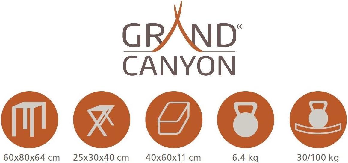 Festival Aluminium Hocker silber f/ür 2 oder 4 Personen Picknick stabiler Klapptisch f/ür Camping Campingtisch inkl klappbar Grand Canyon Koffertisch Set