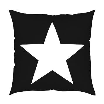 Attraktiv MyBUBO Stars Dekokissen Stern Sterne Kissenhülle/Kissenbezug, Schwarz Weiss  Kissen Zierkissen 40x40cm Schwarz/