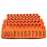 Livestocktool Cow/Cattle Ear Tags/Orange Ear Tags for Cattle with Number 001-100