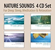 NATURE SOUNDS 4 CD Set - Ocean Waves, Forest Sounds, Thunder, Nature Sounds with Music for Deep Sleep, Meditat