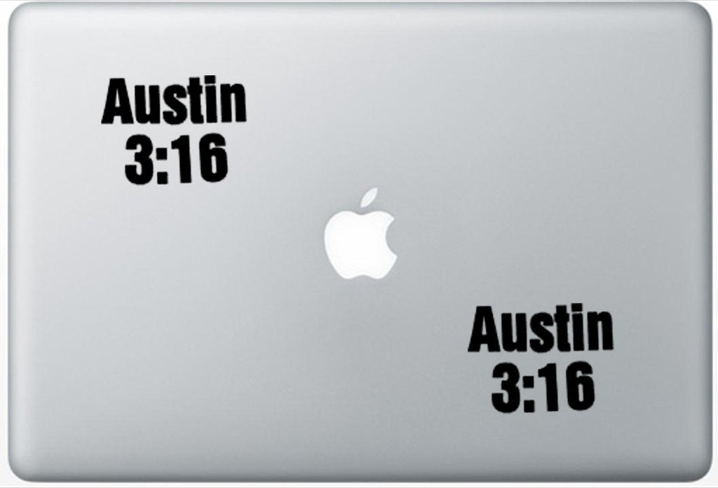 Austin 3-16 Stone Gold Wwe FlashDecals0761 Set Of Two (2x) , Decal , Sticker , Laptop , Ipad , Car , Truck
