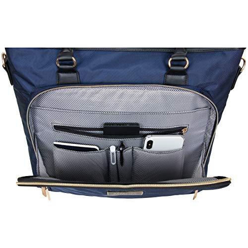 Kenneth Cole REACTION Chelsea Chevron 15″ Laptop & Tablet Business Tote W/Removable Shoulder Strap