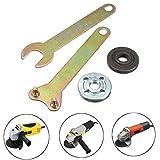 PODOY M10 Metal Grinder 100 Flange Lock Nut & Spanner Wrench Kit for Dewalt Milwaukee Makita Black