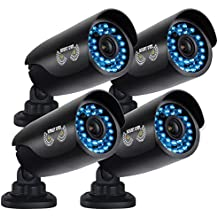 Night Owl Security 4 pack of Indoor/Outdoor 720p Security Bullet Cameras with 100ft.