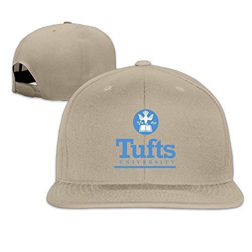 [WG Custom Cool Snapback Tufts University TU Logo Hip Hop Hats Natural] (Jumbo Hip Hop Adult Hat)