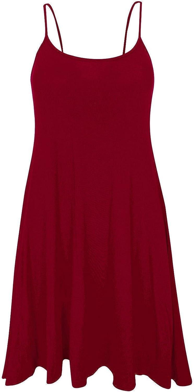 Gr/ö/ßen 44-54 11 Mustern WearAll /Übergr/ö/ße Bedruckt /Ärmellos Riemchen Mini Kleid Vest Top