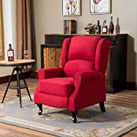 Cloud Mountain Microfiber Massage Recliner Sofa Living Room Chair Vibrating Ergonomic Lounge Heated with Control, Burgundy