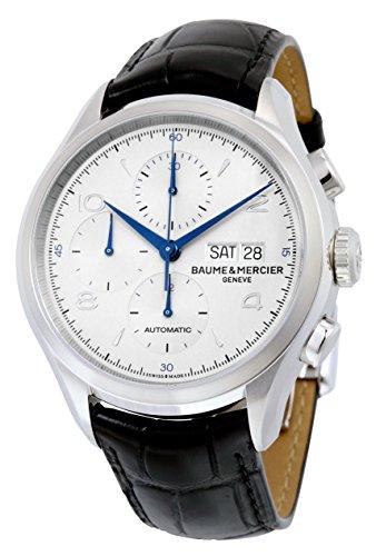 baume-et-mercier-clifton-automatic-chronograph-silver-dial-mens-watch-10123