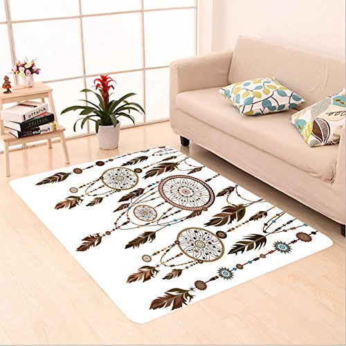 Sophiehome skid Slip rubber back antibacterial Area Rug dream catcher isolated ethnic indian colored decorative components feathers beads the concept 321822728 Home Decorative - Shaw Rugs Indian Rug