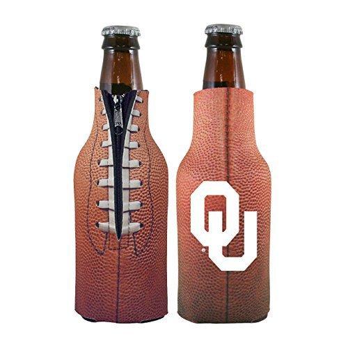 Oklahoma Tailgate Cooler (NCAA College 2014 Team Logo Football Look Bottle Coolie Holder Koozie Cooler 2-Pack (Oklahoma Sooners))