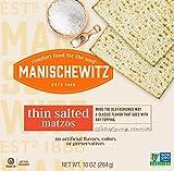 "Manischewitz Old Fashioned ""Thin Salted Matzo"" 10oz (3 Pack) Airy Crispy Crackers, Non"