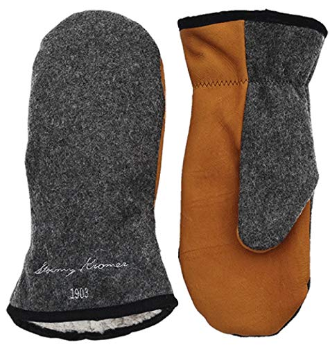 Stormy Kromer Tough Mitts - Wool Winter Gloves Charcoal