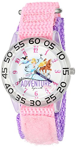 Plastic Pink Watch (Disney Girl's 'Cinderella' Quartz Plastic and Nylon Watch, Color:Pink (Model: W002953))