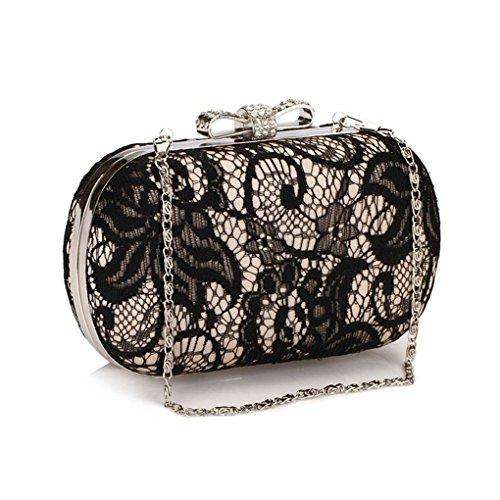 Shoulder Lace Gold Crystal Dinner Chain Women Mini Female Bags Purse Evening Bowknot Mengonee Hasp Clutch Mini Handbag Bag Lady Bag Shoulder rRwqEr