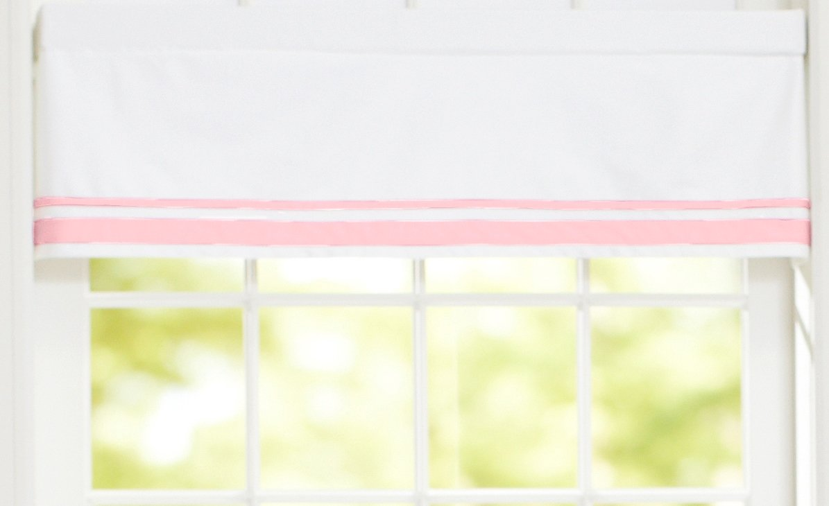 Just Born Window Valance, Pink/White 249137L