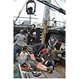 Haven Eric Balfour as Duke Crocker Talking and Lounging in Chair with Film Crew Off Camera Shot 8 x 10 inch photo