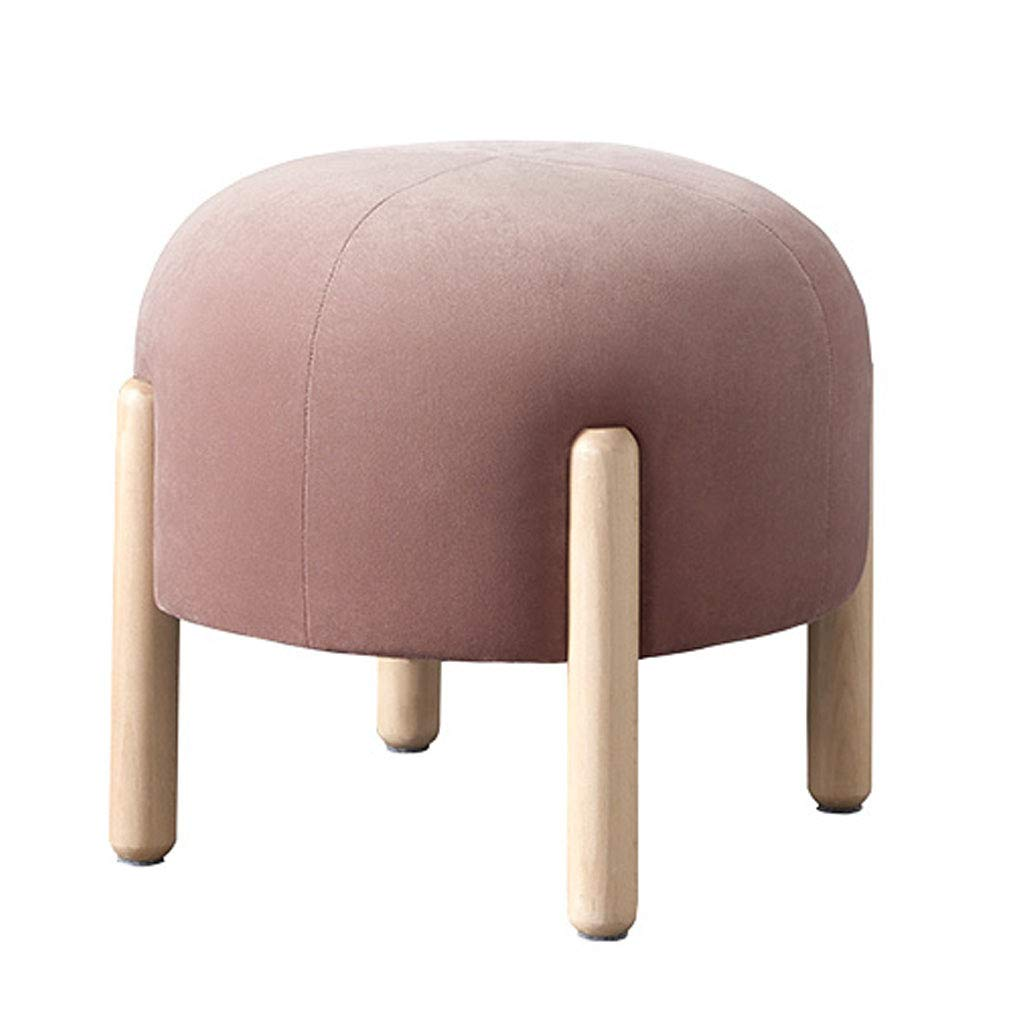 Nordic Ottomans Stool Cotton Velvet Fabric Sofa Stool Home Creative Stool Change Change Shoes Stool Footrest Stool for Living Room and Bedroom by SONGTING Ottomans