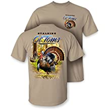 """Follow the Action Turkey """"Stalking OL'Toms"""" Two-Sided Short Sleeve Hunting T-Shirt"""