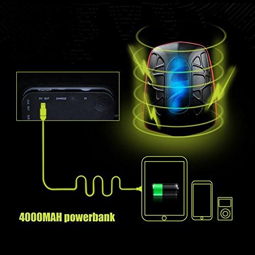WILDMAN Multi-Functional Waterproof Lightweight Enabled Wireless Bluetooth Speaker LED Light Backpack (Black) by Wildman (Image #5)
