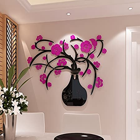 GOUZI 3d three-dimensional crystal vases, wall TV wall decoration ...