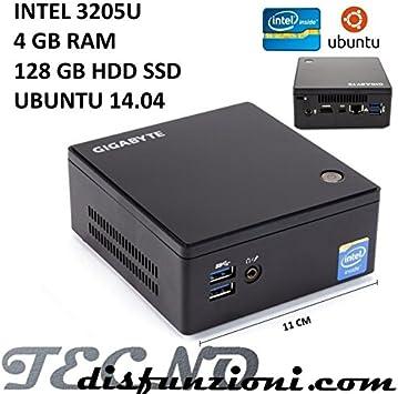 MINI PC BRIX U3205 4 GB DE RAM, 120 GB SSD UBUNTU: Amazon.es ...