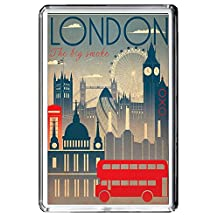 B630 LONDON FRIDGE MAGNET ENGLAND VINTAGE TRAVEL PHOTO REFRIGERATOR MAGNET