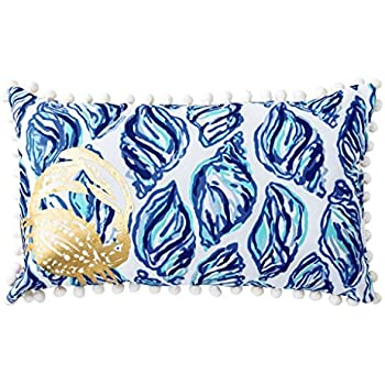 Amazon Lilly Pulitzer Painted Palm Large Pillow Home Kitchen Beauteous Lilly Pulitzer Decorative Pillows