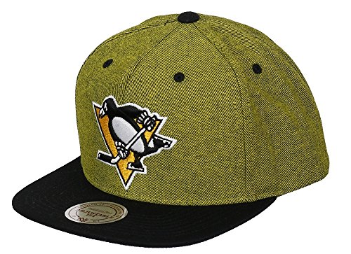 POUR sUPPORTER dES pITTSBURGH pENGUINS & mITCHELL nESS cASQUETTE sNAPBACK nHL vE88Z-jAUNE/nOIR