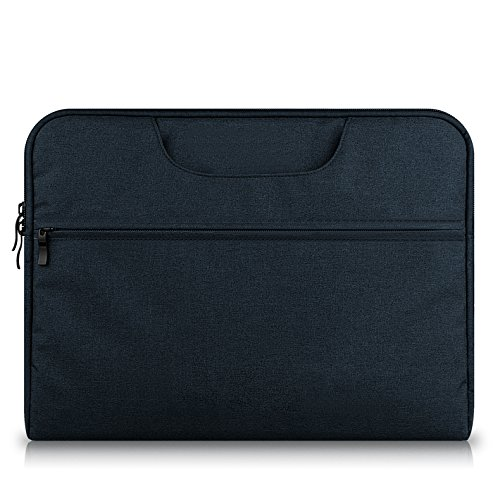 15.6 Laptop Case Black,MeiLiio Laptop Bag 15.6 inch/Protective Messenger/Business Zipper Briefcase with Accessories Pocket for Apple MacBook Air/Pro 15.6 inch All Laptop,Black by MeiLiio (Image #4)