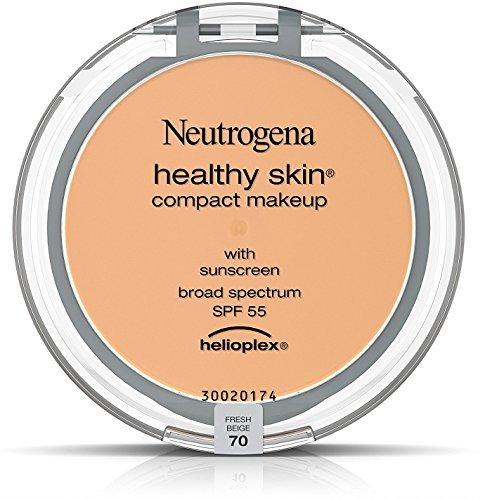 Neutrogena Healthy Skin Compact Makeup SPF 55, Fresh Beige [70], 0.35 oz (10 Pack)