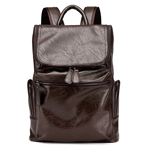 Men's Bag Leather Brown With Shoulder Casual Laptop SqrxTSO