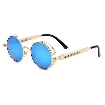 Vintage Gothic Steampunk Sunglasses Round Transparent See Through ...