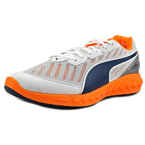 PUMA Men's Ignite Ultimate Running Shoe, White/Orange Pop/Blue, 11 D US