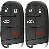 KeylessOption Keyless Entry Remote Car Smart Key Fob for Dodge Charger Challenger Dart M3N-40821302 (Pack of 2)