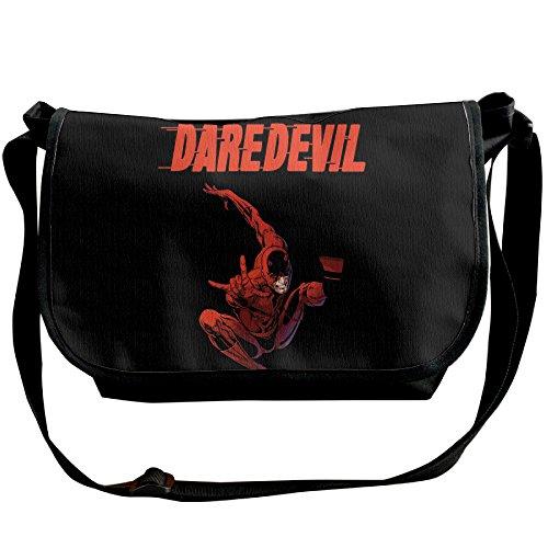 Amurder Personalized Cool Superhero Daredevil Messenger Shoulder Bag Black