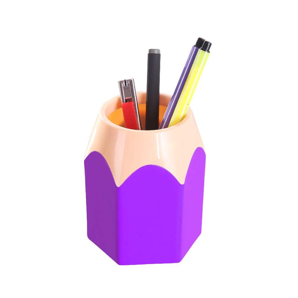 jarr/ón Hexagonal Creativo para Escritorio Mini portal/ápices Escritorio Organizador para Estudiantes papeler/ía QIHONG Almacenamiento de Malla papeler/ía lapicero Verde Verde