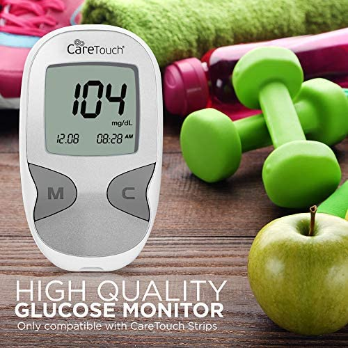Care Touch Diabetes Testing Kit – Care Touch Blood Glucose Meter, 100 Blood Test Strips, 1 Lancing Device, 30 gauge Lancets-100 rely and Carrying Case