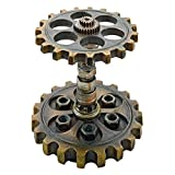 Design Toscano Industrial Steampunk Dual Gear Pen Holder, Gold