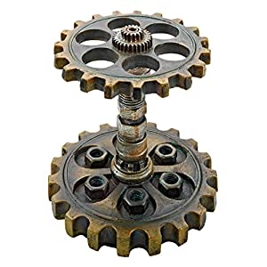 Design Toscano Industrial Steampunk Dual Gear Pen Holder