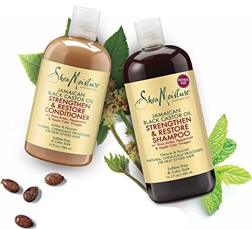Shea Moisture  Strengthen, Grow & Restore Shampoo and Conditioner Set, Jamaican Black Castor Oil Combination Pack, 16.3 oz Shampoo & 13 oz. Conditioner by Shea Moisture (Image #6)