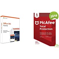 Microsoft Office 365 Home + McAfee Total Protection 2019 5 Devices