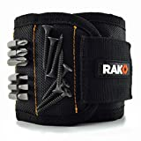 RAK Magnetic Wristband (1 Pack) with Strong Magnets for Holding Screws, Nails, Drill Bits - Best Unique Tool Gift for DIY Handyman, Father/Dad, Husband, Boyfriend, Men, Women (Black)