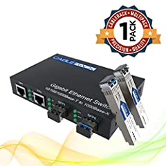Features              This plug-n-play 4-port optical fiber switch offers two available SFP (Small Form Factor) slots and two 10/100/1000BaseT RJ45 ethernet switch ports. This amazing bundle includes one of the 4-port switches...