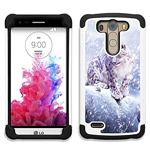 LG G3 S / G3 Beat / G3 Vigor / D722 D725 D724(Not for G3) - Hybrid Heavy Duty Armor Shockproof Silicone Cover Rugged case (Leopards In The (Lg G3 Vigor Leopard Phone Case)