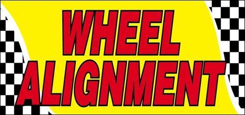 - 3x10 Ft Wheel Alignment Vinyl Banner Sign yb
