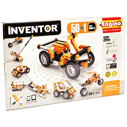 Engino Inventor - Build 50 Motorized Multi-Models Construction Kit