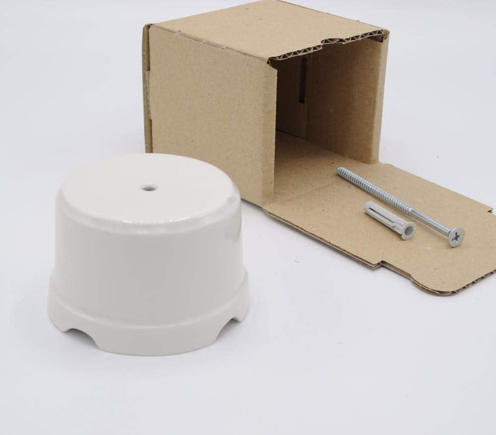 Klartext BELLE /ÉPOQUE Bo/îte de d/érivation vintage pour installation avec c/âble textile en porcelaine artisanale de qualit/é Noir mat /Ø 75 mm