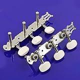 2pcs/set Classical Guitar Tuner Tuning Keys Pegs Machine Heads Silver