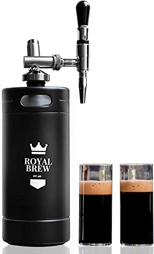 Royal Brew Nitro Cold Brew Coffee Maker Home Keg Kit System Matte Flat Black 128 oz